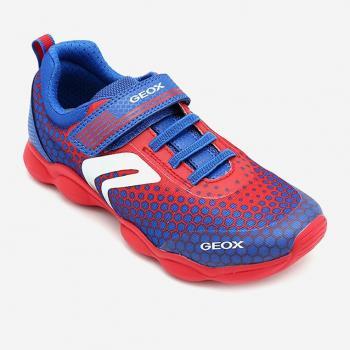 Sneakers bé trai Geox J MUNFREY B. D màu đỏ phối xanh dương