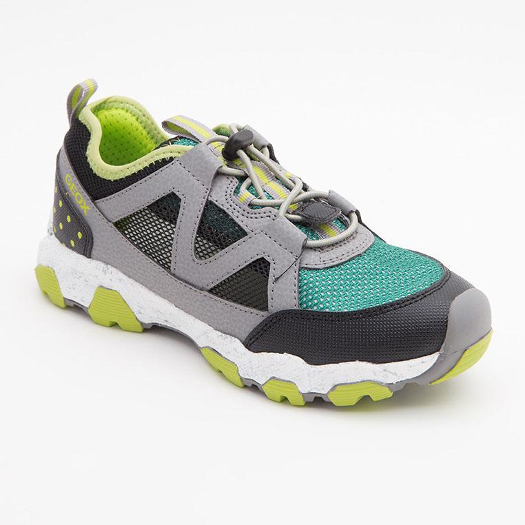 Sneakers bé trai Geox J MAGNETAR B. A màu xám phối xanh lá