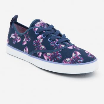 Sneakers Geox quai dán màu xanh navy phối cam