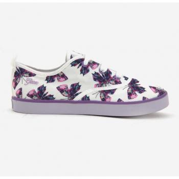 Sneaker Geox cột dây màu xanh navy in hình bướm