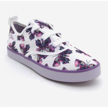 Sneaker Geox cột dây màu trắng in hình bướm