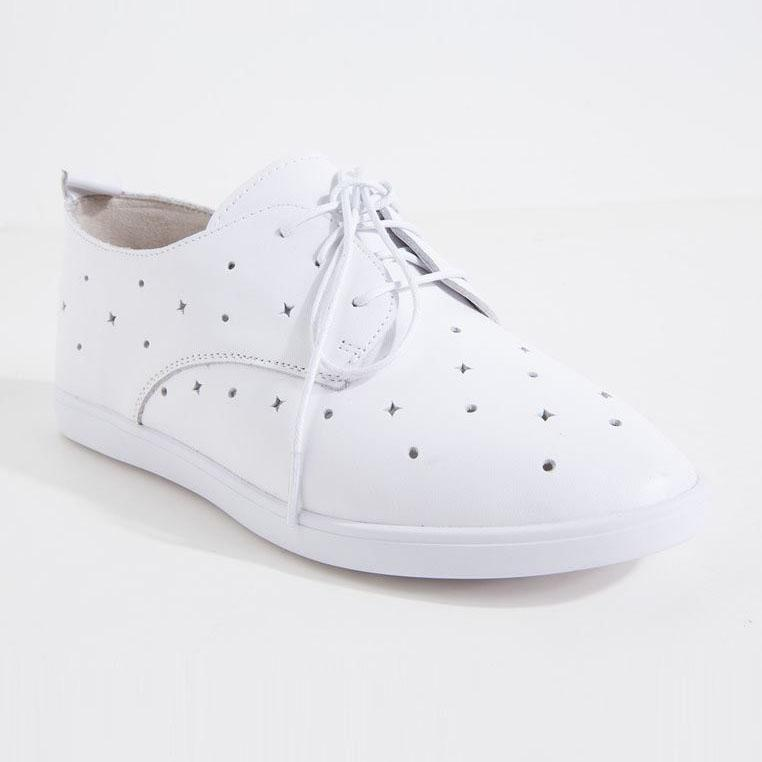 Giày da nữ Aokang 172332005 màu trắng