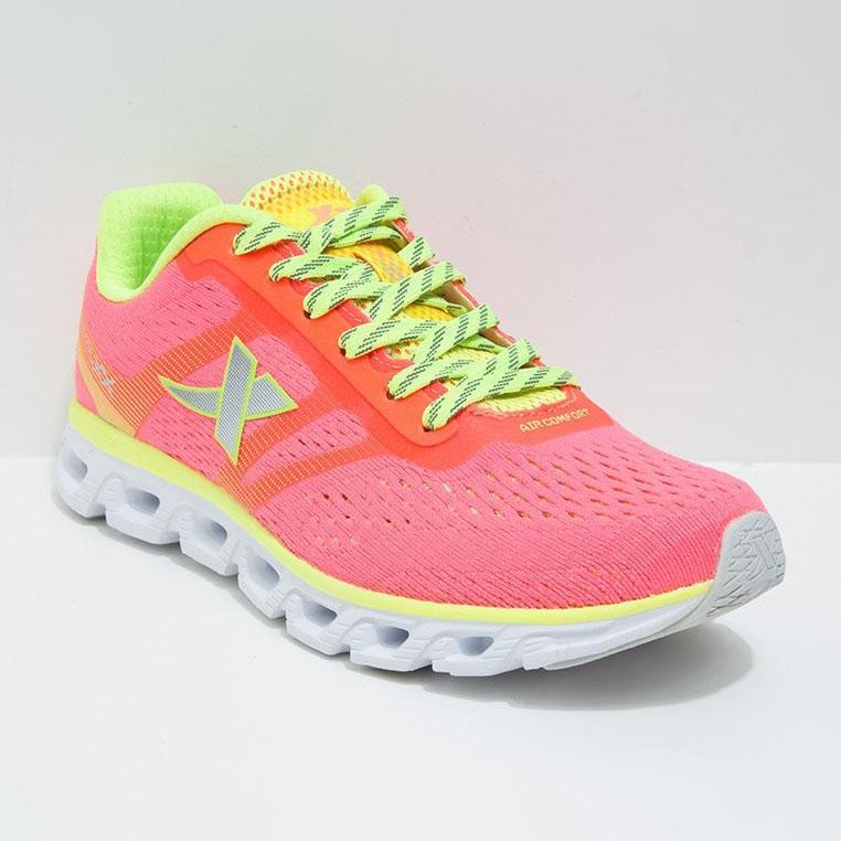 Giày chạy nữ Xtep 984218116068-4 hồng xanh neon